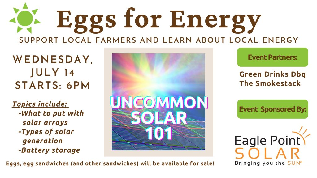 July Eggs for Energy Meets Green Drinks Event